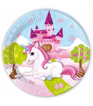 8-paper-plates-large-23cm-unicorn
